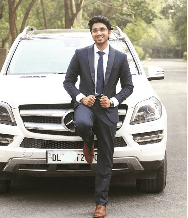 aman Dhattarwal mercedes car