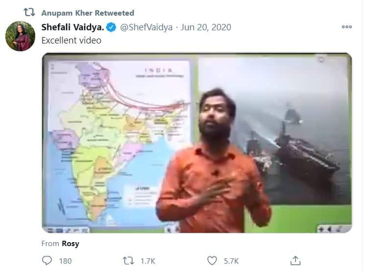 anupam kher tweet to khan gs research centre - starwikibio