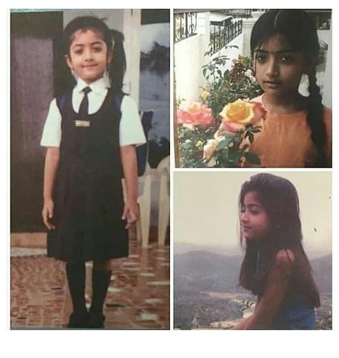 rashmika mandanna childhood image starwikibio