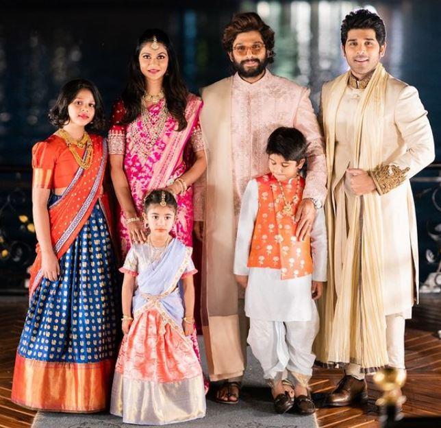 allu arjun and sneha reddy family