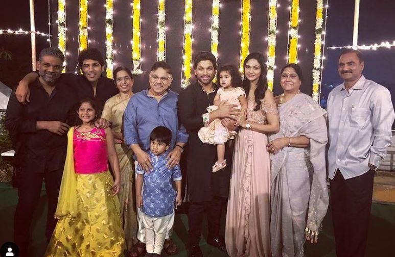 allu arjun whole family image